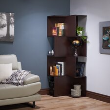 "Kelvette Contemporary 67"" Corner Unit Bookcase"
