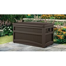 73 Gallon Resin Wicker Deck Box with Seat