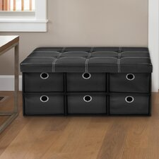 Stefania Collapsible 6 Drawer Storage Ottoman by Winston Porter