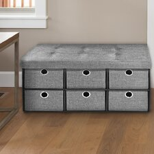 Newman Collapsible 6 Drawer Storage Ottoman by Winston Porter