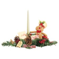 Gingerbread Kisses Candle Decor