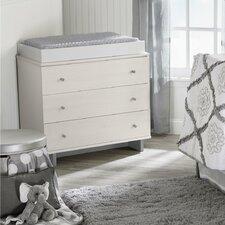 Maple Lane Dove 3 Drawer Dresser Combo
