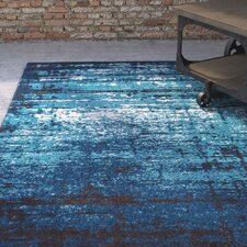 Coolidge Modern Distressed Blue Area Rug