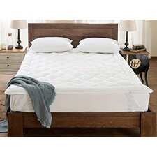 """Fully Reversible 1"""" Down Alternative Mattress Topper with Stay Tight Anchor Straps"""