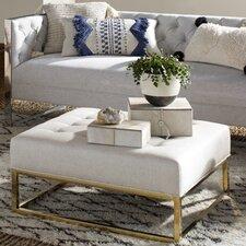 Radel Metallic Linen Ottoman by Mercer41™