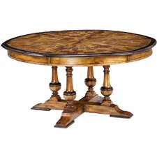 Oyster Burl Jupe Extendable Dining Table