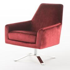 Bourne Velvet Modern Swivel Armchair by Mercer41™