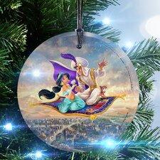 Disney Thomas Kinkade (Aladdin) StarFire Prints Glass Hanging Ornament