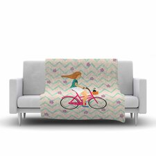 Cristina Bianco Design Bicycle Ride Fleece Blanket