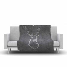NL Designs Chalkboard Deer Digital Fleece Throw