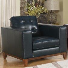 Caleb Top Grain Leather Club Chair by Corrigan Studio