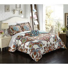 Charrington Polyester 8 Piece Reversible Duvet Cover Set