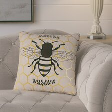 Vitrolles Nature's Bounty Bee Indoor/Outdoor Throw Pillow