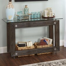 Lorenz Industrial Console Table by 17 Stories