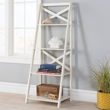 """Stoddard 56"""" Leaning Bookcase"""