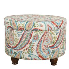 Franky Bold Paisley Storage Ottoman by Bungalow Rose