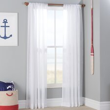 Lumbrook Double Layered Solid Sheer Single Curtain Panel