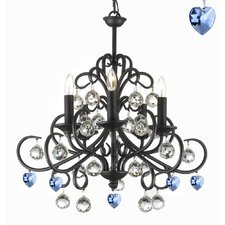 Boson Wrought Iron 5-Light Candle-Style Chandelier