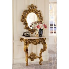 Madame Antoinette Wall Console Table and Salon Mirror Set by Design Toscano