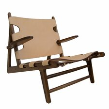 Oak Lounge Chair by Union Rustic