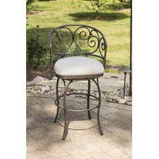 """Houghton 30"""" Swivel Indoor/Outdoor Bar Stool with Cushion"""