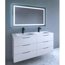 Lavva Contemporary Illuminated LED Bathroom Mirror