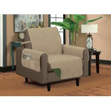 Classic Reversible Quilted Microfiber Armchair Slipcover