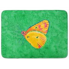 Butterfly Orange/Green Memory Foam Bath Rug