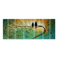 Love Birds' by Megan Duncanson 7 Piece Graphic Art Plaque Set by All My Walls
