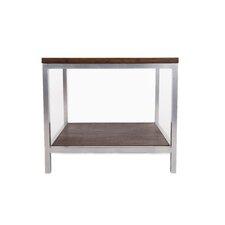 Betances Steel Framed Bamboo Rectangular Side Table by Latitude Run