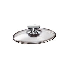 "Tricion 8"" Glass Lid with Stainless Lid Knob"
