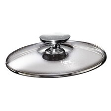 "Tricion 9.5"" Glass Lid with Stainless Lid Knob"