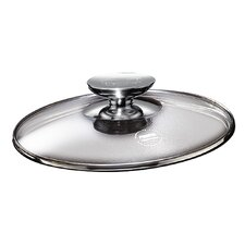 "Tricion 13"" Glass Lid with Stainless Lid Knob"