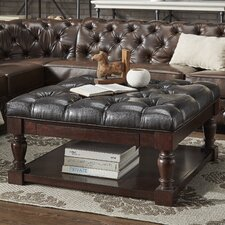 Back East Tufted Ottoman by Three Posts