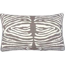 Zebra Double Sided Block Print Polyester Lumbar Pillow