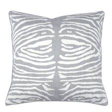 Zebra Double Sided Block Print Polyester Throw Pillow