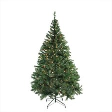 Pre-Lit Niagara Medium 6.5' Pine Artificial Christmas Tree with 450 Clear Lights with Stand