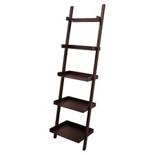 "Kathryn 5-Tier 67"" Leaning Bookcase"