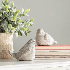 2 Piece Bird Statue Set