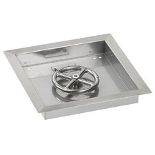"""12"""" Square Stainless Steel Drop-in Pan with Spark Ignition Propane Fire Pit Kit (Set of 2)"""