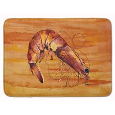 Odin Orange Shrimp Memory Foam Bath Rug