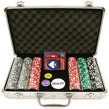 Clay Welcome to Las Vegas Chip Set with  Aluminum Case by Trademark Global