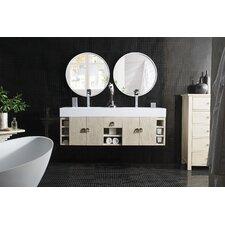 Villegas 59 Double Vanilla Oak Bathroom Vanity Set by Ivy Bronx