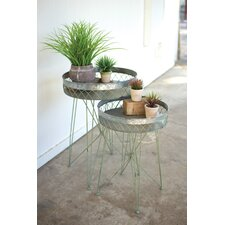 Appleton Galvanize Wire 2 Piece Nesting Tables by Bungalow Rose