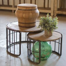 Damon Round 2 Piece Nesting Tables by Williston Forge