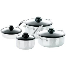 Black Cube™ 8 Piece Completion Non-Stick Stainless Steel Cookware Set