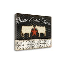 'Country Kitchen - Home Sweet Home' Graphic Art Print on Canvas