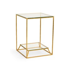 Delahunt Glass End Table by Everly Quinn