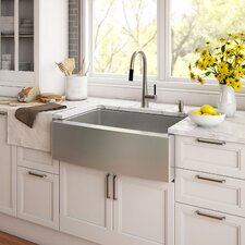 """Stainless Steel 29.75"""" x 20"""" Farmhouse Kitchen Sink with NoiseDefend™ Soundproofing"""