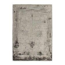 Handgewebter Teppich Nostalgia in Anthrazit